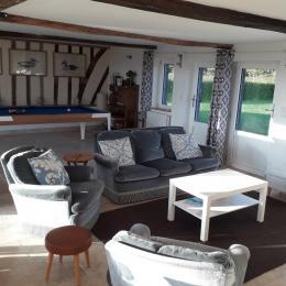 Séjour & salle à manger - Location de vacances - Saint-Gatien-des-Bois
