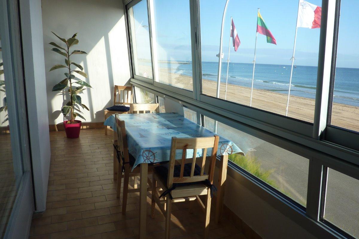 loggia face à la mer - Location de vacances - Courseulles-sur-Mer