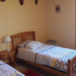 Salon avec cheminée - Location de vacances - Saint-Mamet-la-Salvetat