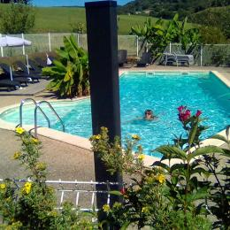 piscine blue lagon et bananier  - Location de vacances - Junhac