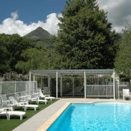 Piscine ave vue sur le Puy Griou - Location de vacances - Saint-Jacques-des-Blats