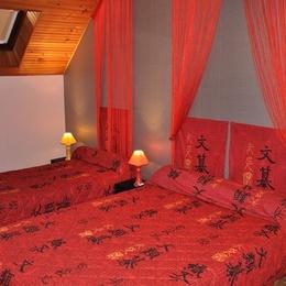 2 eme Chambre 1 er etage (3personnes) - Location de vacances - Laveissière