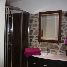 la salle d'eau de la chambre harmonie  - Chambre d'hôtes - Rouffiac
