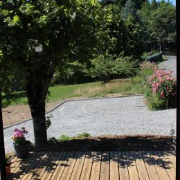petite terrasse de la suite - Location de vacances - Calvinet