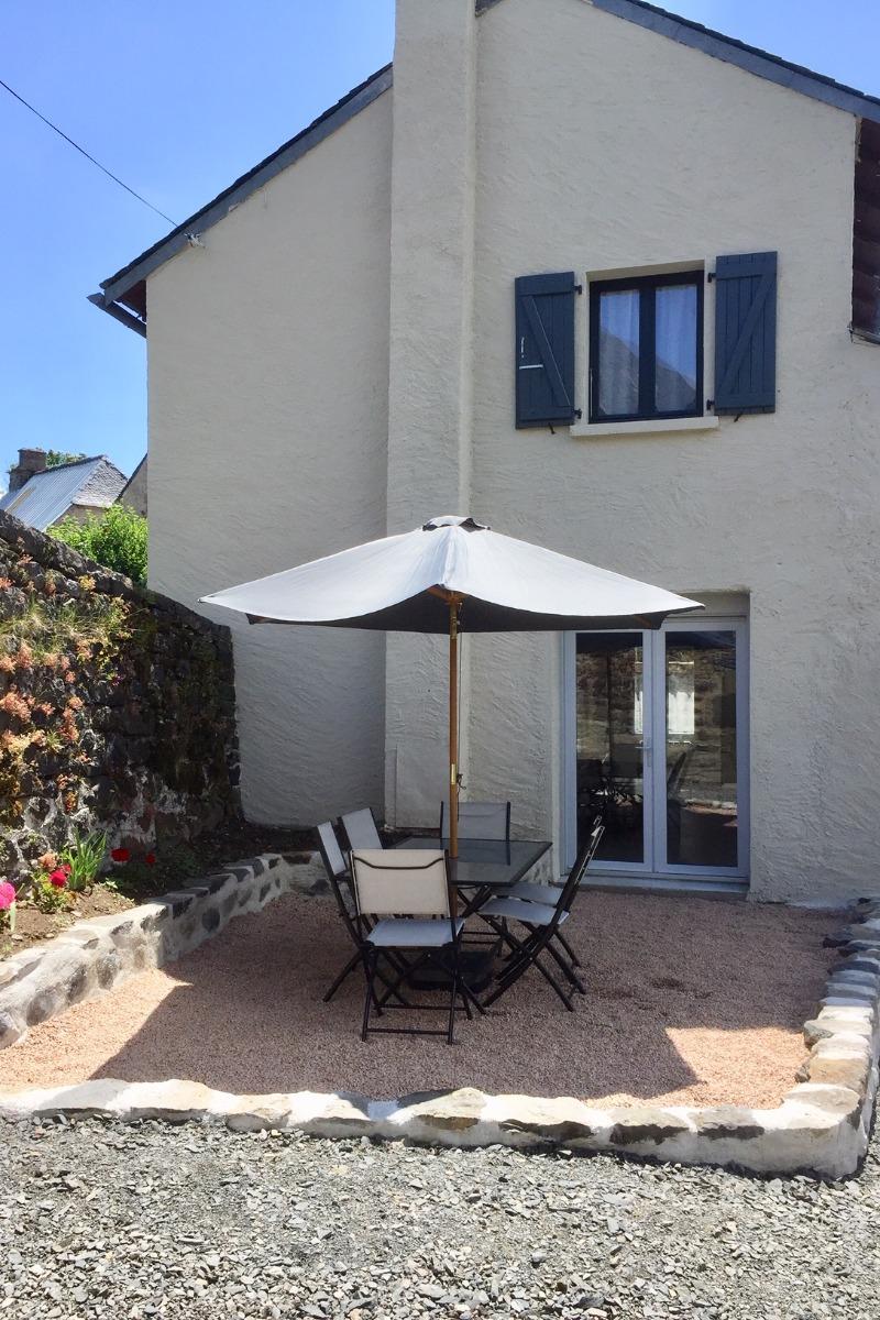 terrasse arriere - Location de vacances - Vèze