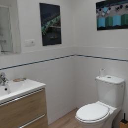 Salle d'eau attentante a la chambre - Location de vacances - Terres-de-Haute-Charente