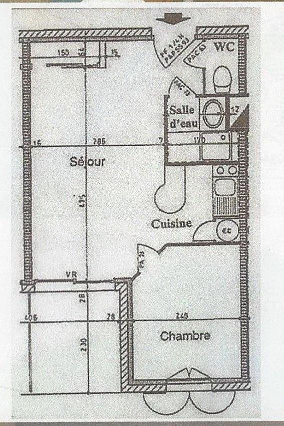 plan de l'appartement - Location de vacances - Rochefort