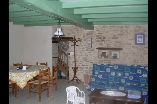salle à manger-salon - Location de vacances - Bernay-Saint-Martin
