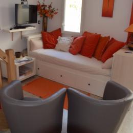 Espace salon - ré de chaussée - Location de vacances - Meschers-sur-Gironde