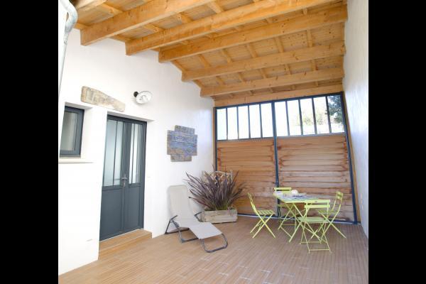 entrée maison et espace détente - Location de vacances - La Rochelle