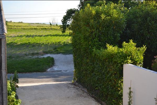 entrée privée parking vue vignes et estuaire - Location de vacances - Chenac-Saint-Seurin-d'Uzet
