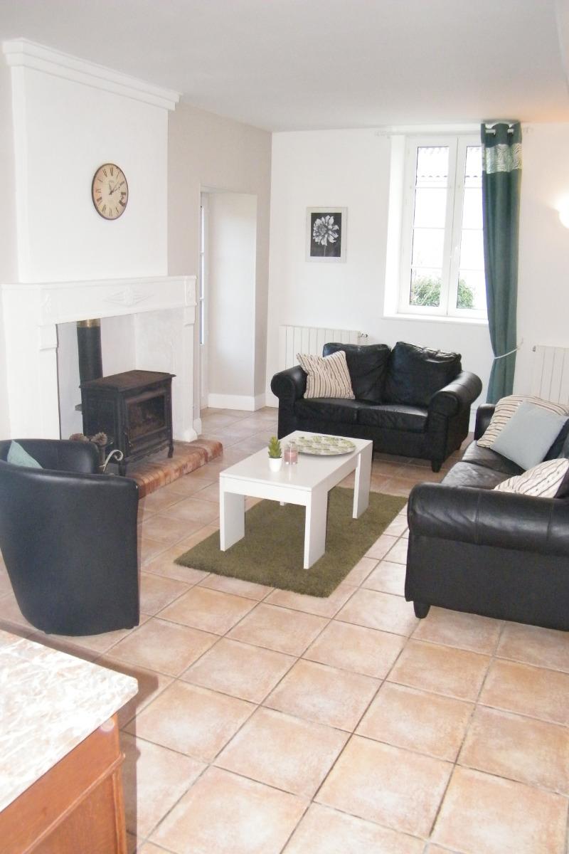 La partie salon de la pièce de vie - Location de vacances - Montpellier-de-Médillan