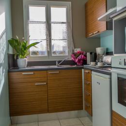 CUISINE (four, congelateur, frigo, micro-ondes, cafetière, bouilloire, grill-pain,..) - Location de vacances - Jonzac