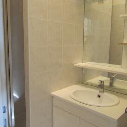 Salle de bains ! Accès étroit dans la douche - Location de vacances - Trizay