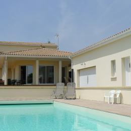 Chambre installée en lit double - Chambre d'hôte - Mortagne-sur-Gironde
