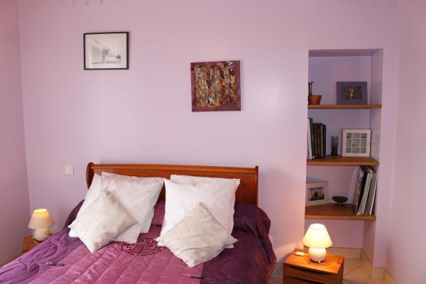 Gîte du Gueurlet - chambre lit double - Location de vacances - Boresse-et-Martron