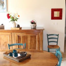 Gîte du Gueurlet - espace repas - Location de vacances - Boresse-et-Martron