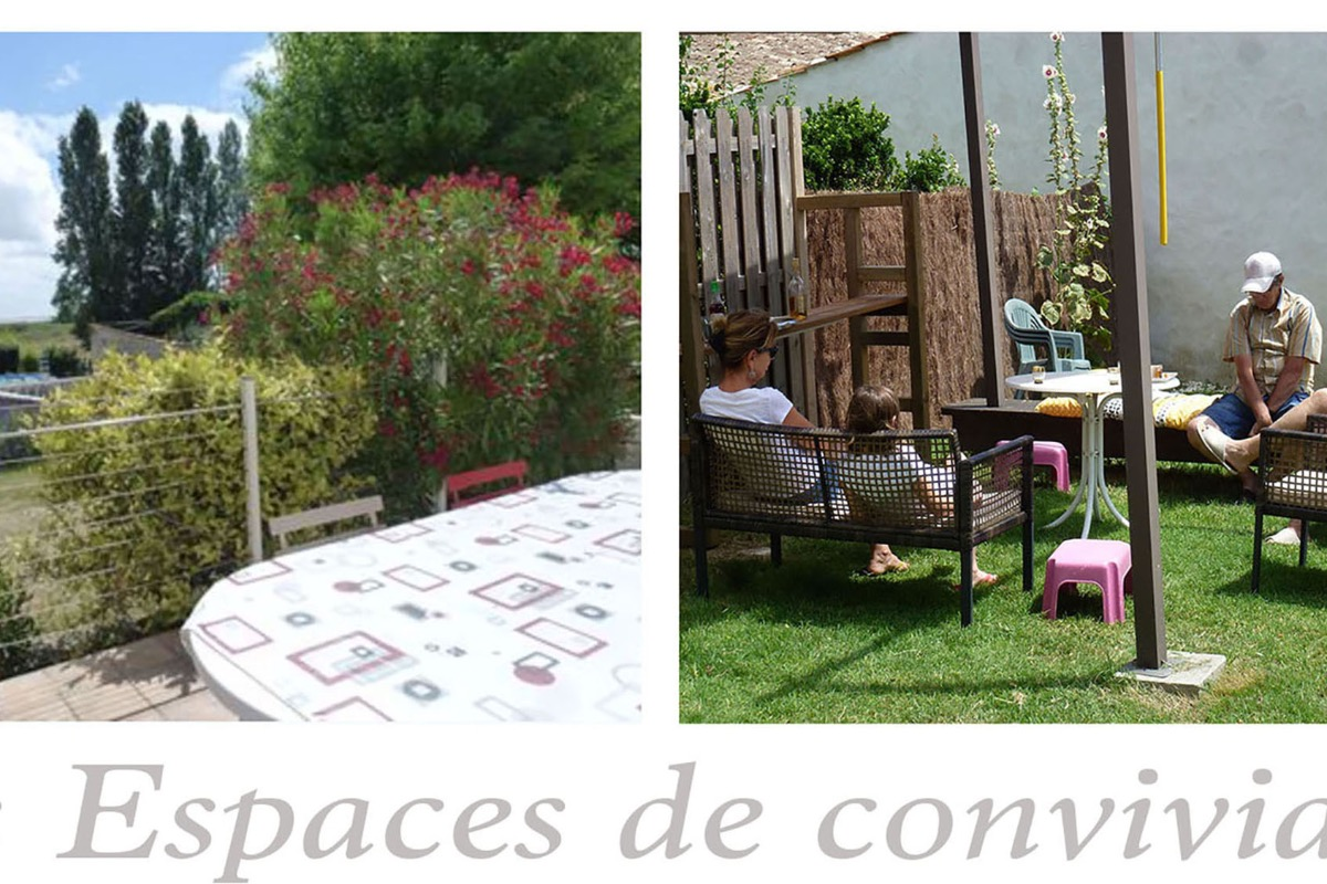 Terrasse et pergola de l'Estivale - Location de vacances - Barzan