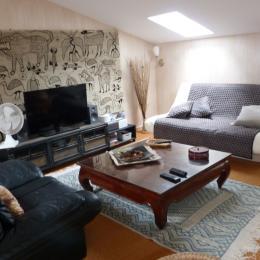 Espace de détente dans la mezzanine  - Location de vacances - Barzan