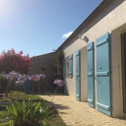 Vue de la terrasse couverte - Location de vacances - Saint-Georges-d'Oléron