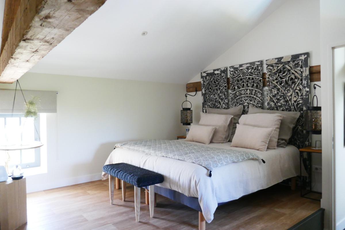 Chambre avec deux lits en 90 modulables en 1 lit en 180 - Chambre d'hôtes - Saint-Georges-du-Bois
