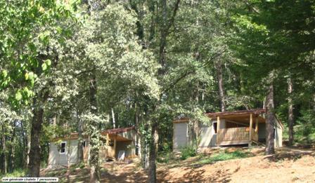 Vue générale Chalet 5 personnes - Location de vacances - Altillac