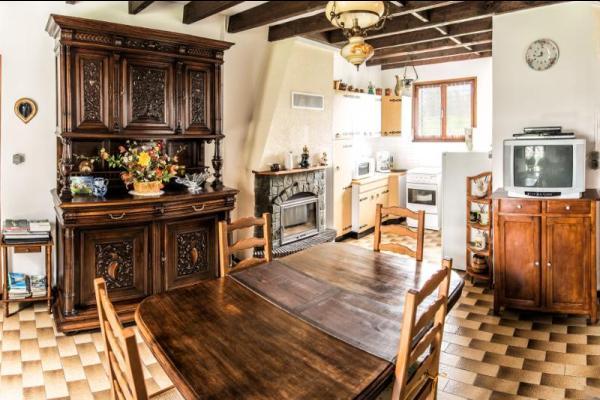 Séjour cuisine - Location de vacances - Espagnac