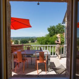 La terrasse...et sa vue à couper le souffle - Location de vacances - Larche
