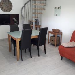 séjour  avec TV et internet + BZ (espace salon)   - Location de vacances - Chaumeil