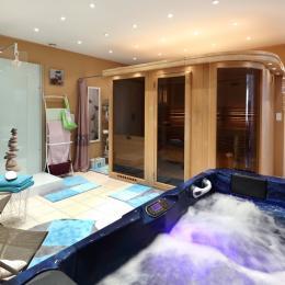 Espace Bien-Etre, spa pour 2 personnes et grand sauna - Location de vacances - Trélou-sur-Marne