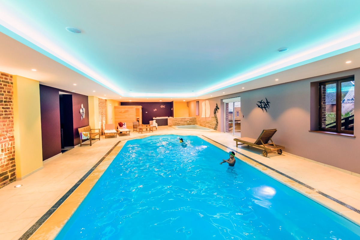 Piscine intérieure, sauna et jacuzzi - Location de vacances - Fontaine-lès-Vervins