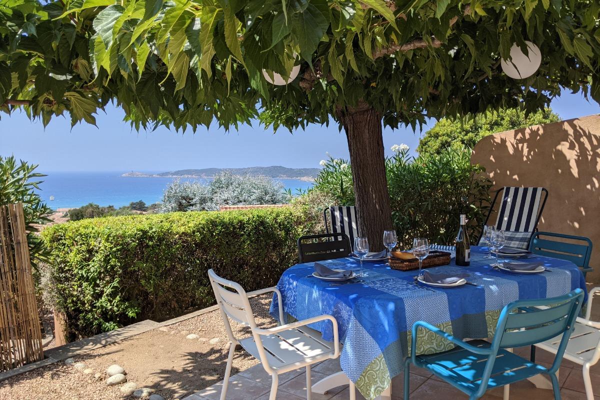 Vue mer de la terrasse - Location de vacances - Cargèse