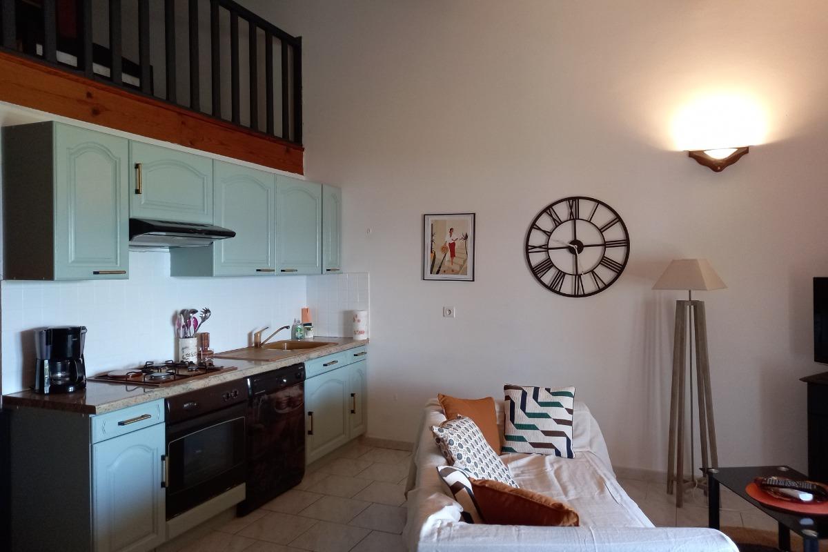CUISINE SALON - Location de vacances - Serra-di-Ferro