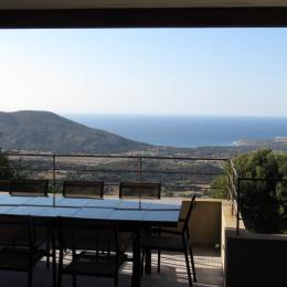 terrasse avec vue sur mer & montagne - Location de vacances - Lavatoggio