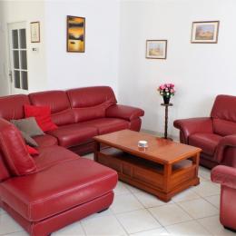 Salon cuir très confortable  - Location de vacances - Pouilly-en-Auxois