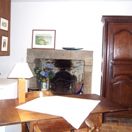 cheminée  - Location de vacances - Dinan