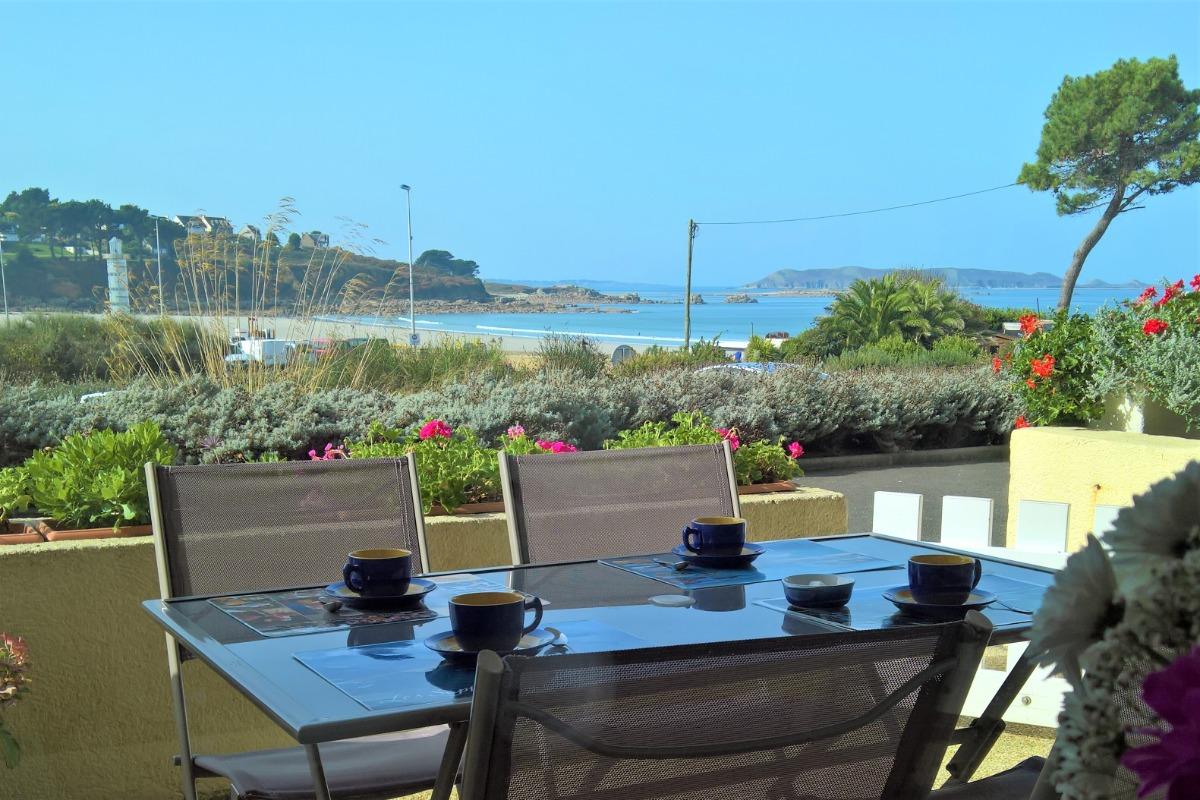 terrasse du Rez de la Plage - Location de vacances - Trévou-Tréguignec