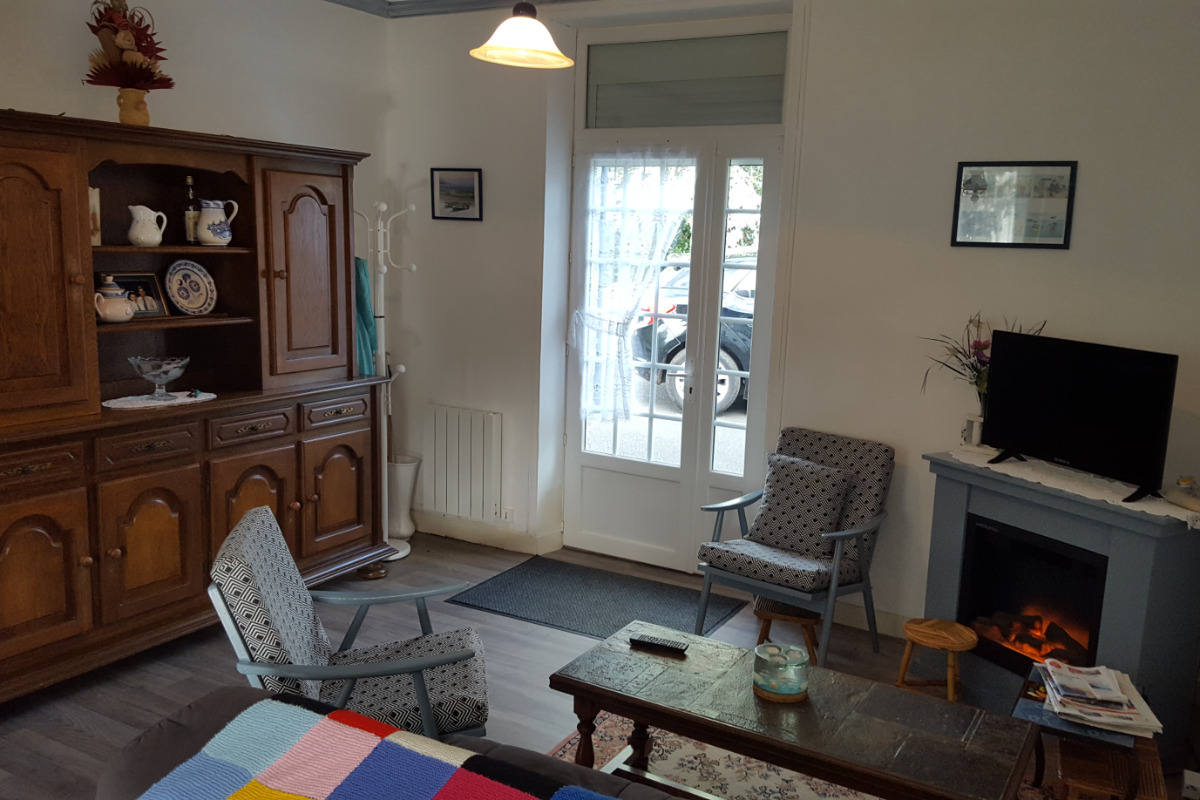ROUILLE, location Pléneuf Val André,  espace séjour - Location de vacances - Pléneuf-Val-André