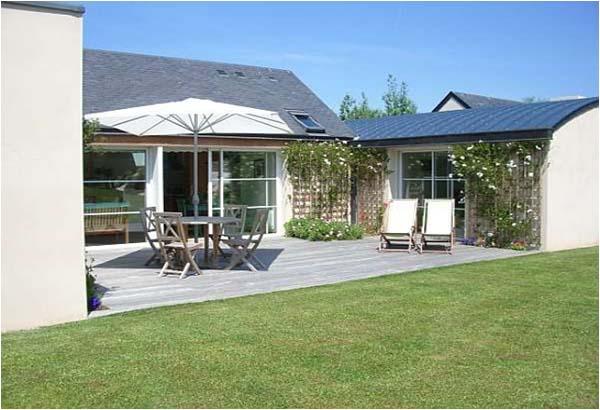 Terrasse plein Sud 40 m² - bois exotique - Location de vacances - Paimpol
