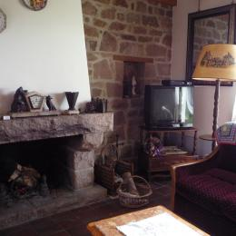 cheminée salon - Location de vacances - Plougrescant
