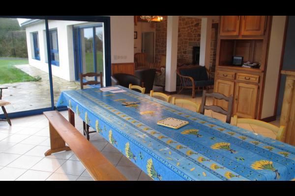 LASBLEIZ Location Plougrescant - espace séjour-salle à manger vue mer - Location de vacances - Plougrescant