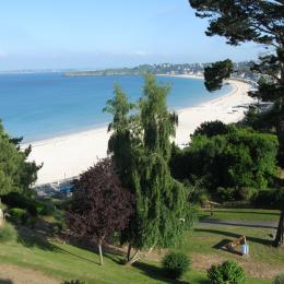 De la terrasse, vue sur la Grande Plage et la baie des Ebihens - Location de vacances - Saint-Cast-le-Guildo