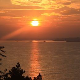 Lever de soleil vu de la terrasse - Location de vacances - Saint-Cast-le-Guildo