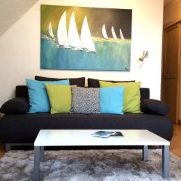 salon étage - Location de vacances - Trégastel