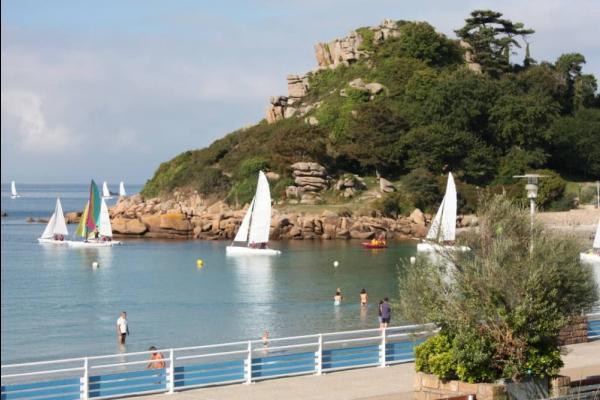 Les voiliers au départ (au bas du Castel) vus de la terrasse - Location de vacances - Trébeurden
