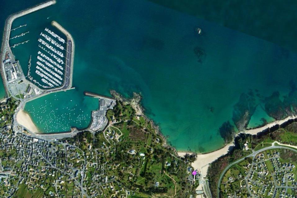 vue satellite le point violet situe la maison - Location de vacances - Étables-sur-Mer
