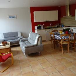 Gîte 6 pers espace salon et cuisine  - Location de vacances - Paimpol