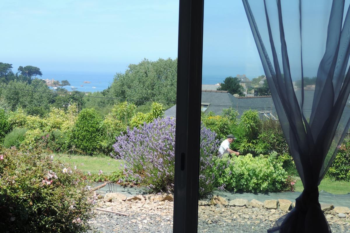 vue de la salle à manger - Location de vacances - Plougrescant