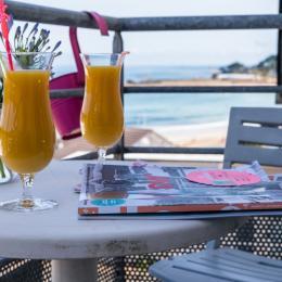 un balcon face à la mer... appréciable ... !  - Location de vacances - Trévou-Tréguignec