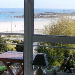 la vue mer panoramique du séjour - Location de vacances - Trévou-Tréguignec